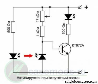 монтажную схему лазера